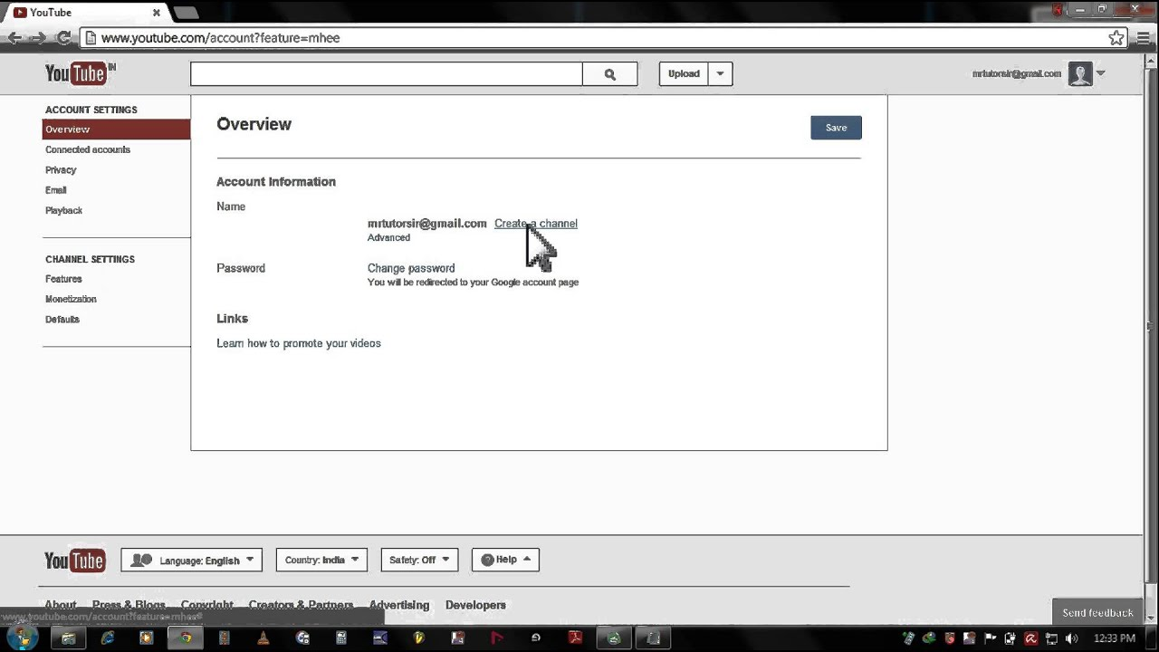 How to create youtube channel 2013 youtube
