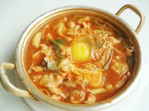 Sujebi (hand-torn noodle soup)