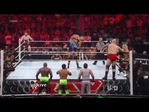 WWE RAW Supershow 5/21/12 - Sheamus & John Cena vs Tensai, Jack Swagger & Dolph Ziggler