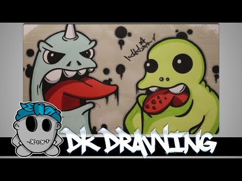 How to draw graffiti character #11- DKD Graffiti Character Update