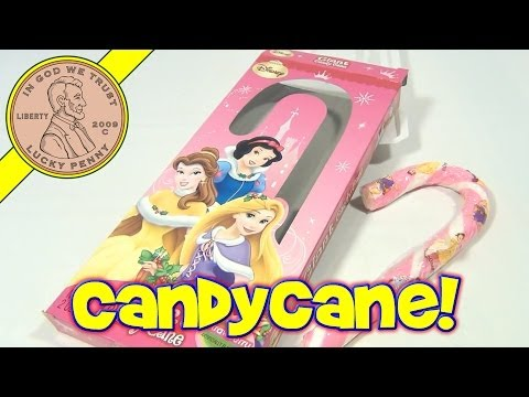 Disney Princess Christmas Gift Candy Cane Strawberry Flavor - Dollar Store Candy Treats