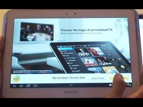 TV Remote App Review on Samsung Galaxy Note 10.1 (GT-N8000. GT-N8013)