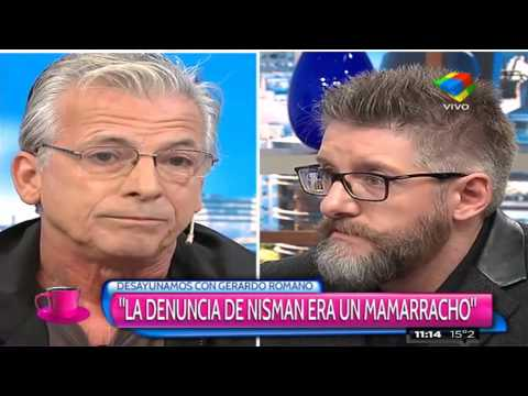 Picante cruce entre Gerardo Romano y Luis Novaresio