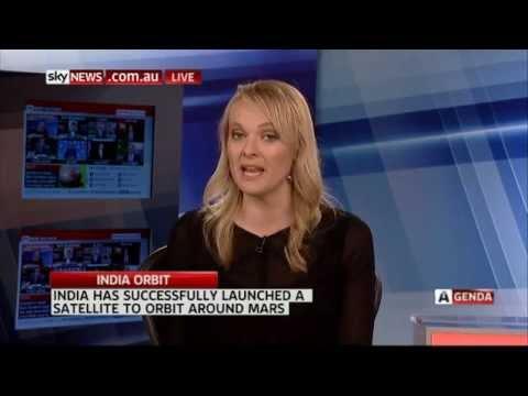 Sky News-Australia on India's Mars Mission (MANGALYAAN) success