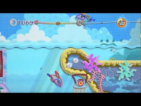 Gameplay - Kirby's Epic Yarn (Dolphins)