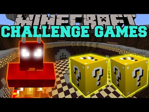 Minecraft: FIRE DEMON CHALLENGE GAMES — Lucky Block Mod — Modded Mini-Game