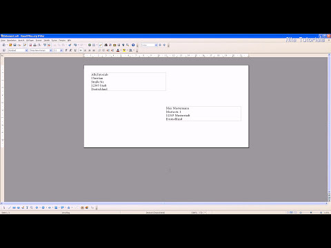 OpenOffice Writer: Briefumschlag bedrucken Tutorial