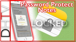 How To Password Protect Notes - iPhone & iPad iOS 9.3