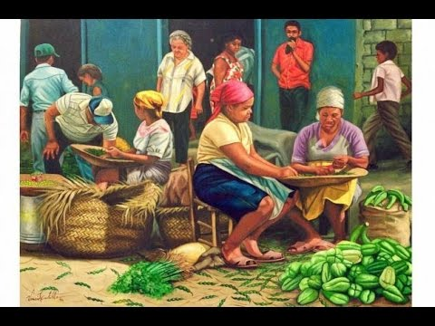 Paintings from Caribbean Painters showing Daily Life in the Caribbean