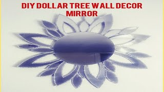 DIY UNIQUE GLAM WALL DECOR MIRROR/DOLLAR TREE ACCENT MIRROR/ INEXPENSIVE ELEGANT WALL MIRROR