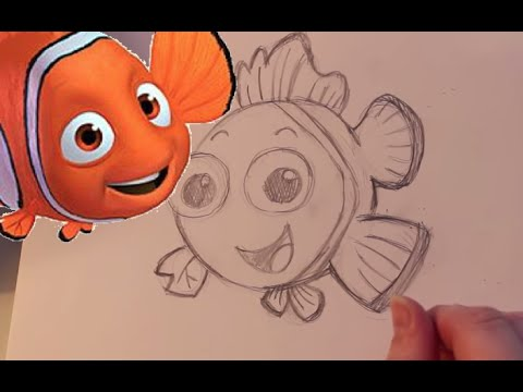 How to Draw Nemo from Finding Nemo