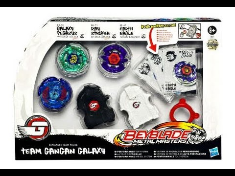 Beyblade Team Gangan Galaxy Set Unboxing