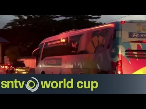 Italy fly home - Brazil World Cup 2014