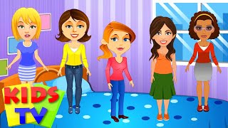 Five Strict Moms Nursery Rhyme | POPULAR NURSERY RHYME FOR KIDS AND CHILDREN