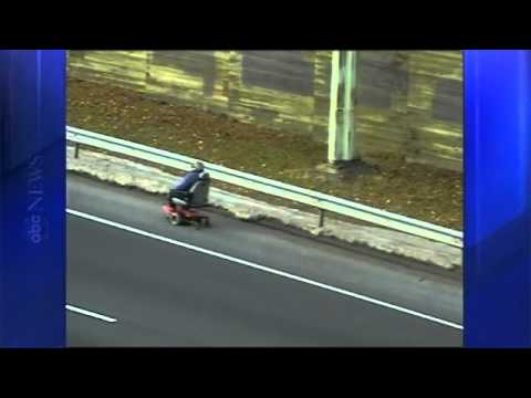 Thumb Hoveround on the highway
