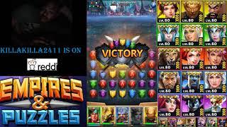 Empires & Puzzles Top 10 Global Raid