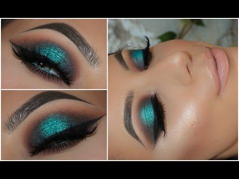 Halo Teal Pop of Colour Smokey Eye   Amys Makeup Box
