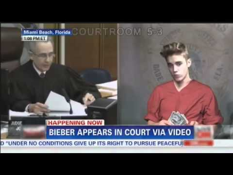Justin Bieber Court Sentencing (in jail) funny version