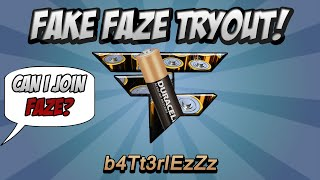 Fake Faze Tryout! (2 Kid Think They
