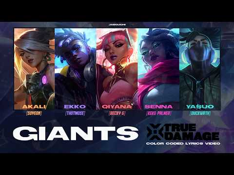 True Damage - GIANTS ft. GI-DLE SOYEON, Becky G, Keke Palmer, DUCKWRTH, Thutmose  Lyrics Video