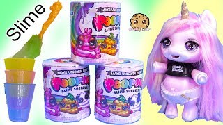 Mixing Baby Unicorn Sisters Slime Food with Surprise Blind Bags