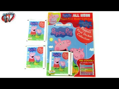 Peppa Pig First Sticker Collection Album Review & Pack Opening, Panini