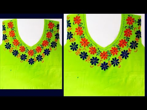 Beautiful Neck Design for Green Colored Kurti / Kurta | Designer Kurti | Latest Fashion Suit Design