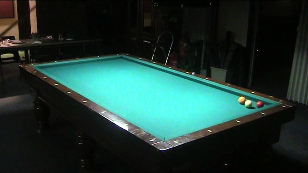 Carom three cushion billiards