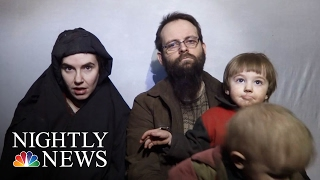 Taliban Releases Propaganda Video Of American Hostages For First Time   NBC Nightly News