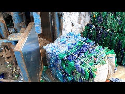 Pengolahan Limbah Botol Plastik - Alat Press Botol Minuman Bekas