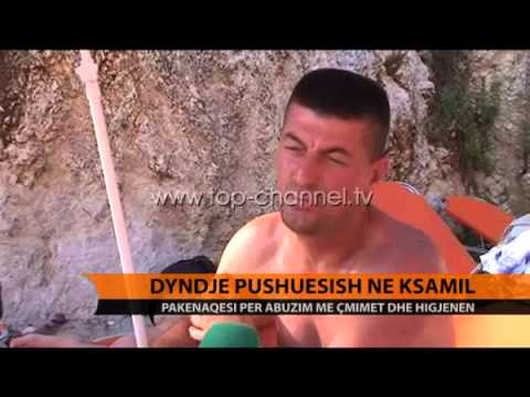 Dyndje pushuesish në Ksamil - Top Channel Albania - News - Lajme