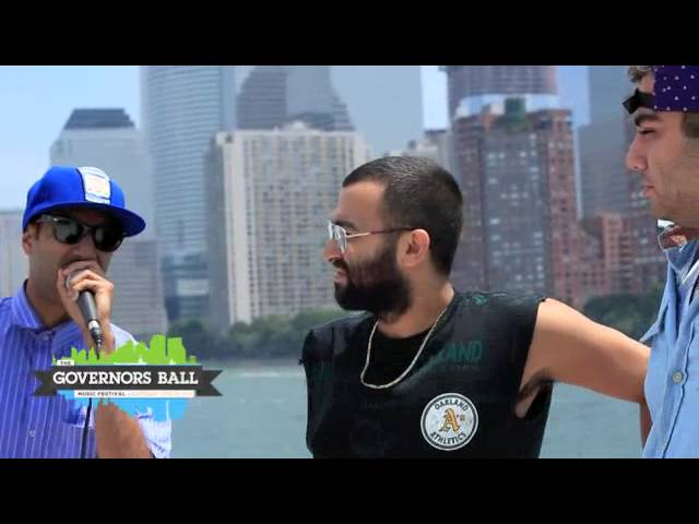 Das Racist on ferry to Governors Ball
