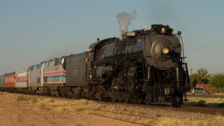 "Hi Def- Santa Fe 3751 on The ""Grand Canyon Limited""- The Chase from Arizona to California!"