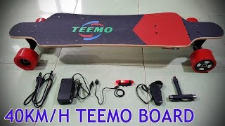 40Km/h TEEMO BOARD Unboxing Review - The best and cheapest Electric Skateboard
