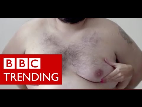 How are moobs teaching women about breast cancer? - BBC Trending