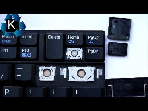 Instrukcja Jak Wymienić Założyć Naprawić Klawisz W Laptopie LENOVO Thinkpad T410 T510 T520 W520