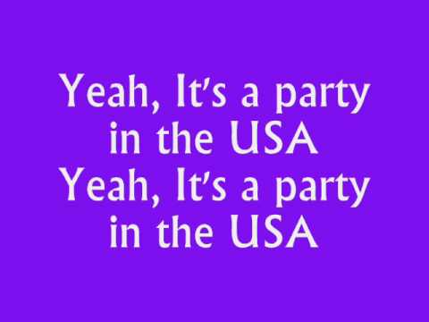 Party in the usa lyrics and music