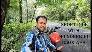A SHORT RIDE IN FOREST WITH THUNDERBIRD 350X