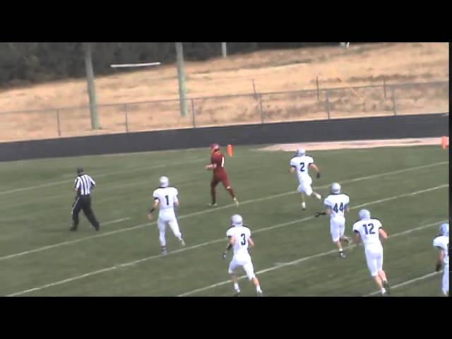 11-1-14 - It's a 69 yard TD run for Kyle Rosenbrock (Brush 6, Moffat County 0)