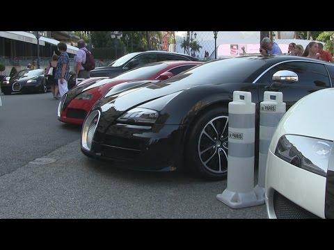 Bugatti Veyrons Spotted at Hotel de Paris in Monaco