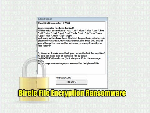 Birele File Encryption Ransomware