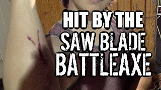 Getting Hit with the Saw Blade Battleaxe (+More Self Stitching!)