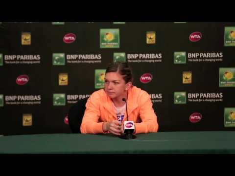 Simona Halep Second Round Press Conference