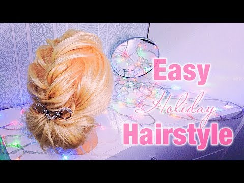 ПРИЧЕСКИ . Прическа за 5 минут на короткие волосы /до плеч.💛  Easy Hairstyles
