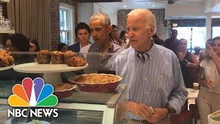 Former President Barack Obama And Joe Biden Reunite At Washington Bakery | NBC News