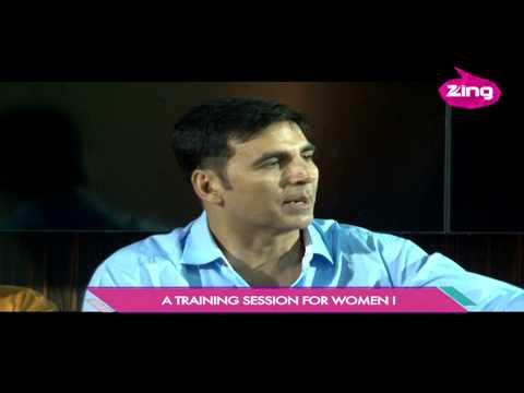 Akshay Kumar at self defence workshop - Zing