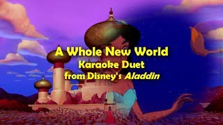 Aladdin A Whole New World Karaoke Duet