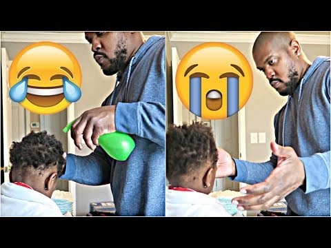 DAD ATTEMPTS TO STYLE DAUGHTER'S NATURAL HAIR 👶🏽👶🏾😍