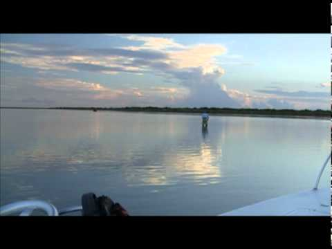 Fly Fishing for Redfish in a Secret Lagoon of the Lower Laguna Madre