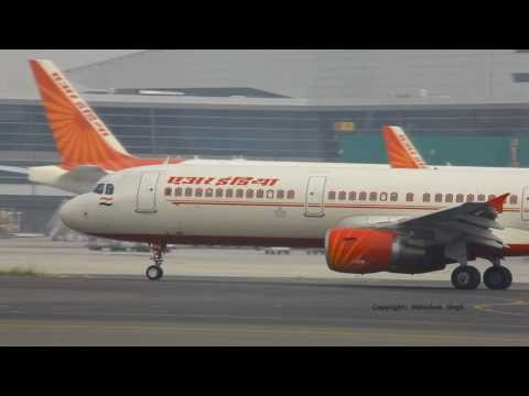 Air India - Airbus fleet Taxi In & Out at IGI